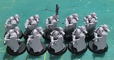 1st Legion Dark Angels Terran Breacher Siege Squad WIP