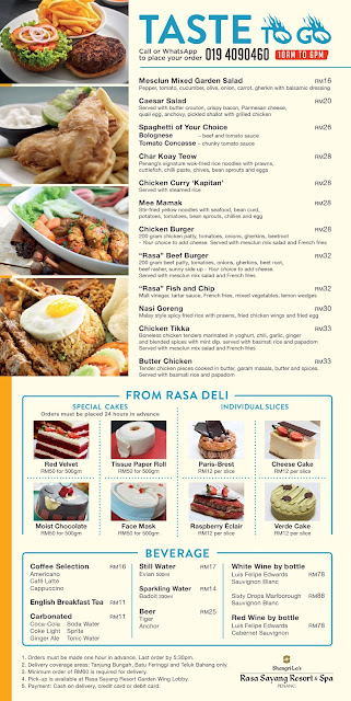 """RAMADAN TAKEAWAY"" PROMOTION  AT SHANGRI-LA'S RASA SAYANG RESORT & SPA"