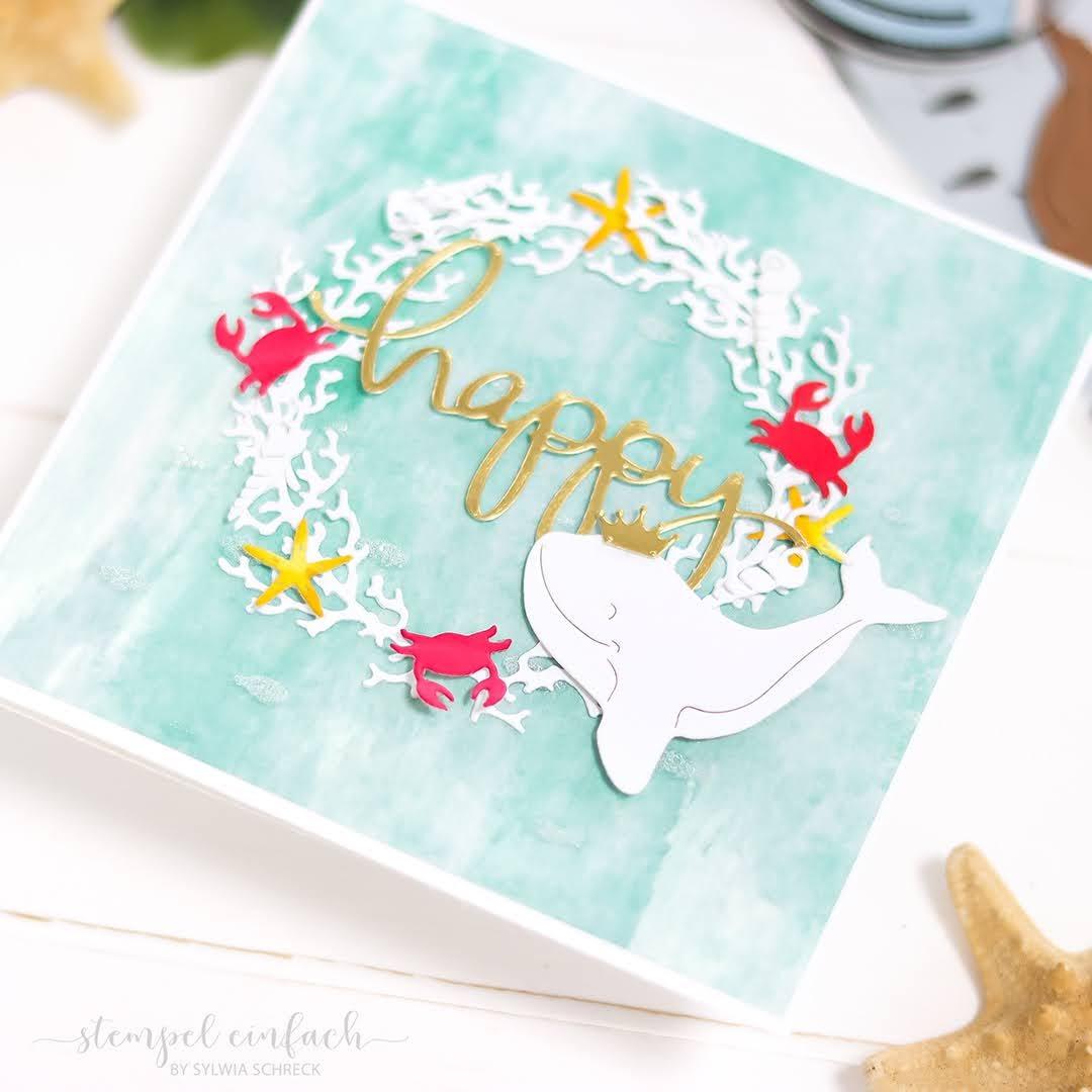 Geburtstagskarte-Korallen
