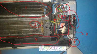ganti kapasitor indoor ac lg - gambar 5