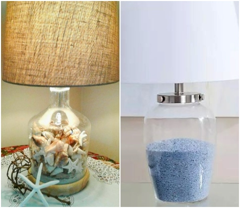 Fillable Clear Glass Table Lamp Ideas