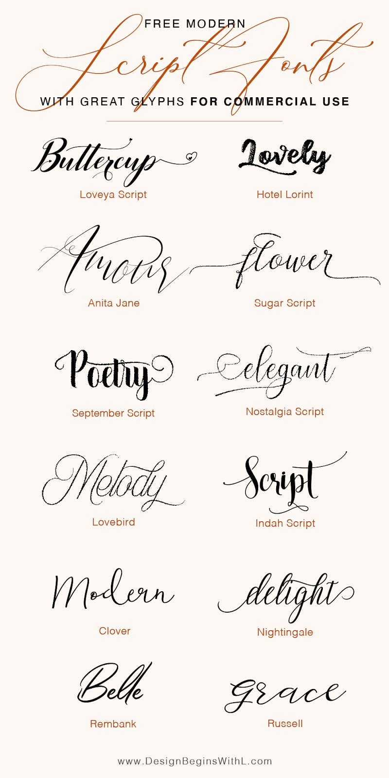 Free Script Fonts for Commercial Use
