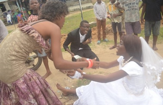 Photos: Bride Runs Out Of Wedding Reception In Delta, Says She's No longer Interested