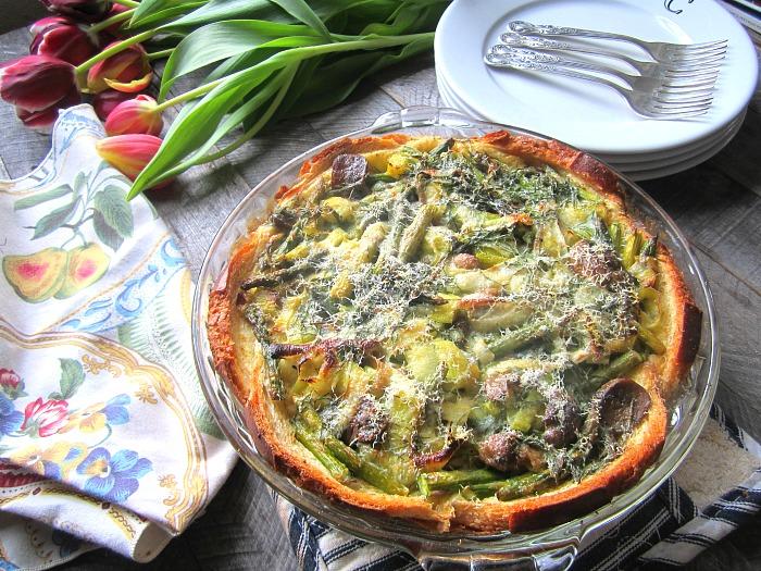 Stacey Snacks: Spring Quiche w/ Asparagus, Leeks & Mushrooms