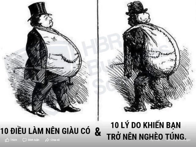 10 Điều Làm Nên Giàu Có và 10 Lý Do Khiến Bạn Trở Nên Nghèo Túng