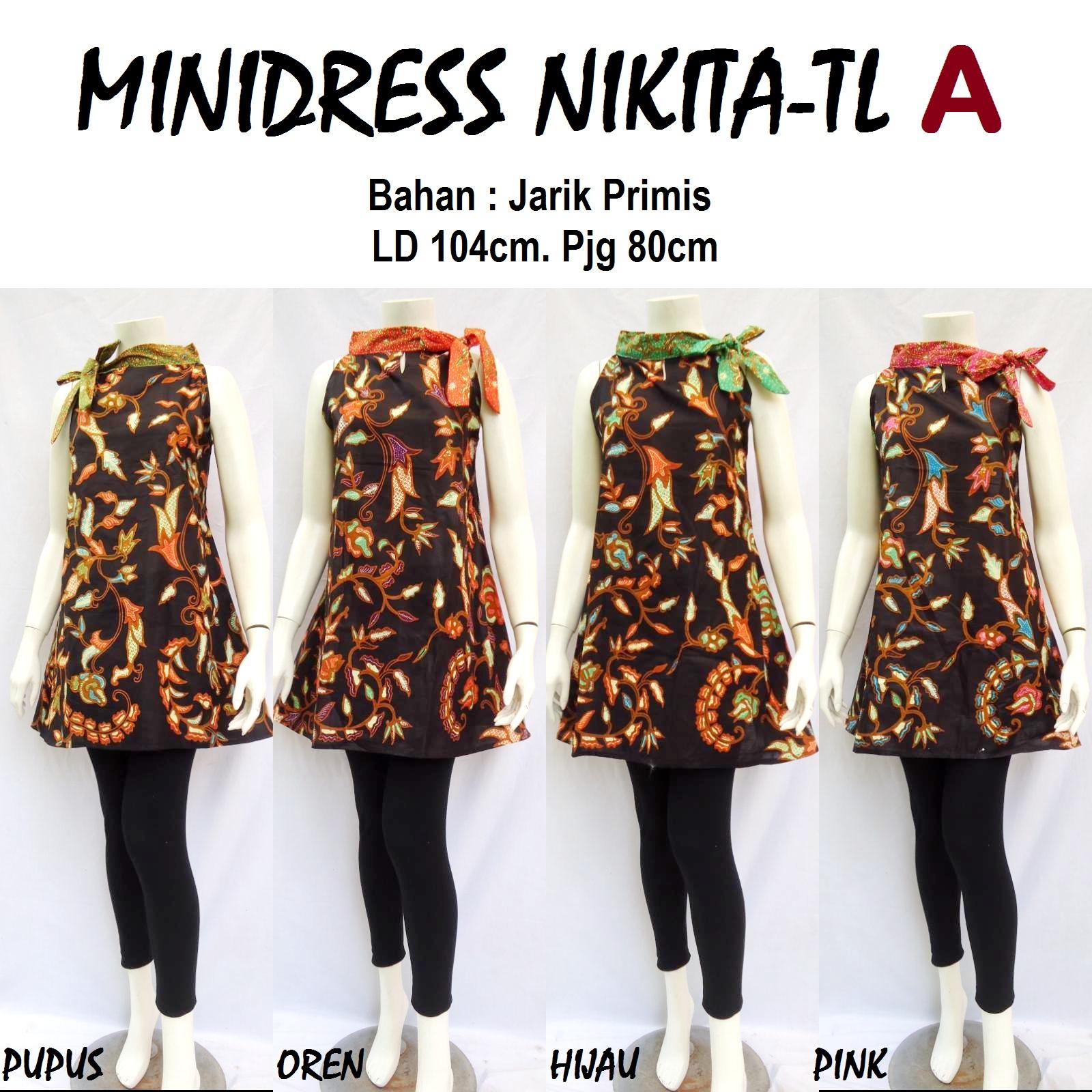 Produksi dan menjual grosireceran baju batik jadi MINIDRESS