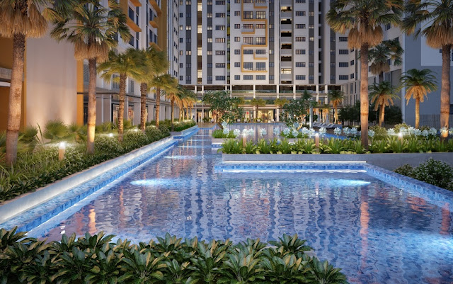 Hồ bơi căn hộ La allba Khang Điền Quận 9