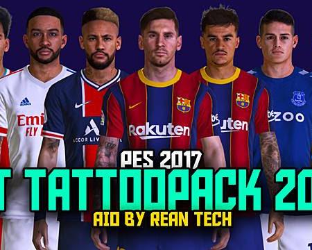PES 2017 RT Tattoo Pack 2021 AIO (1000+ Tattoo)