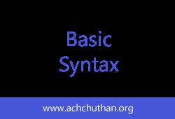 C++ Basic Syntax