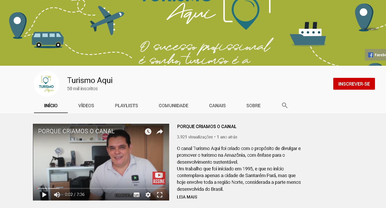 Canal sobre turismo na Amazônia de youtuber santareno chega a 50 mil inscritos