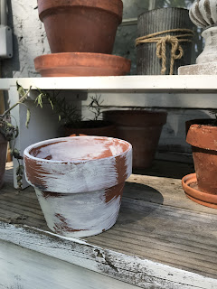 Age new clay pots.  Step by step DIY instructions.