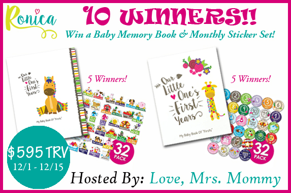 Ronica #Giveaway |$595 in Prizes! 10 WINNERS {US, 12/15/16}