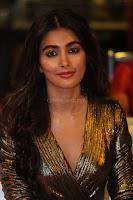 Pooja Hegde looks glamarous in deep neck sleevless short tight golden gown at Duvvada Jagannadham thank you meet function 171.JPG