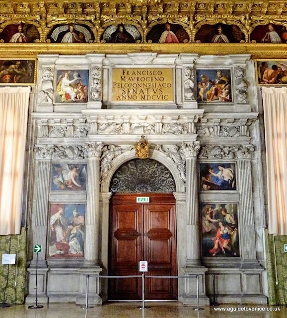 Triumphal arch of Doge Francesco Morosini, Palazzo Ducale, Venice