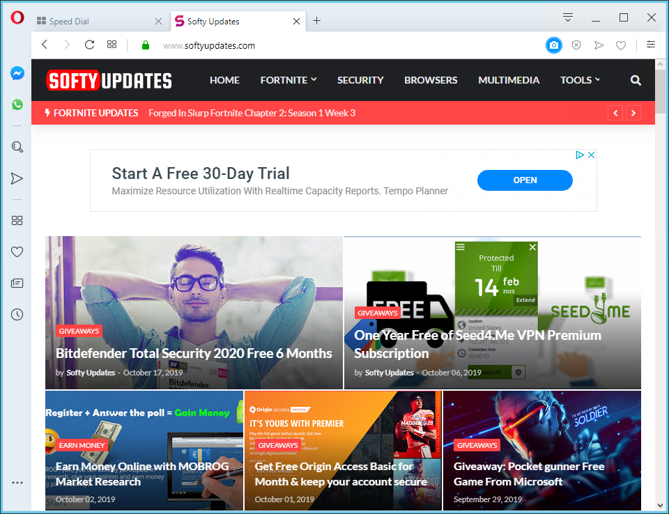 Opera Web Browser 65.0.3467.62