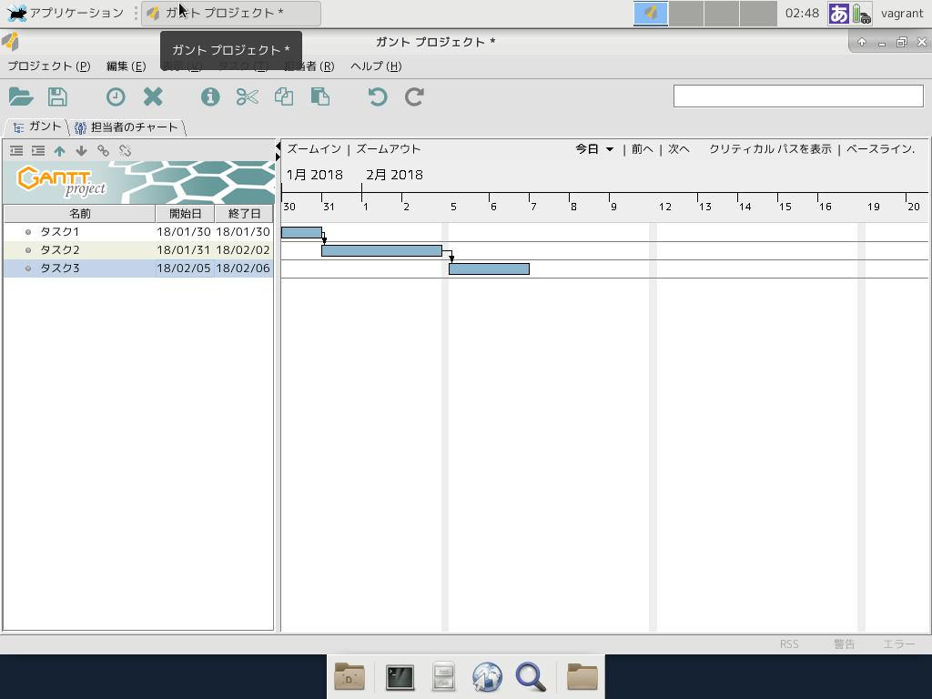 serverあれこれ vagrantでgantt project xfce desktop環境 xrdpが