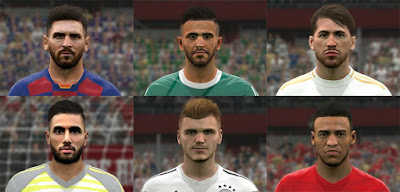 PES 2017 Facepack vol 10 by BenHussam Facemaker