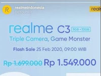 Harga Realme C3, Flash Slae dan Normalnya