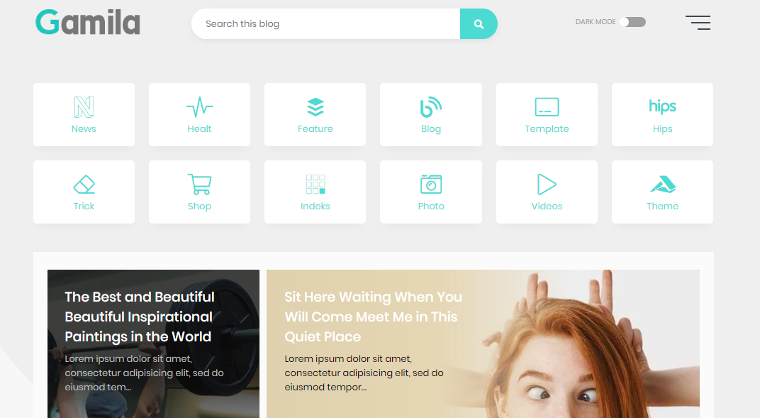 Gamila Premium Blogger Template Free Download