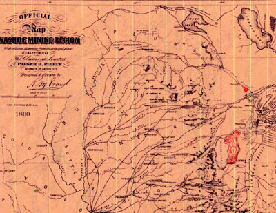A map by a Virginia City historian where this battle might have taken place. (image)