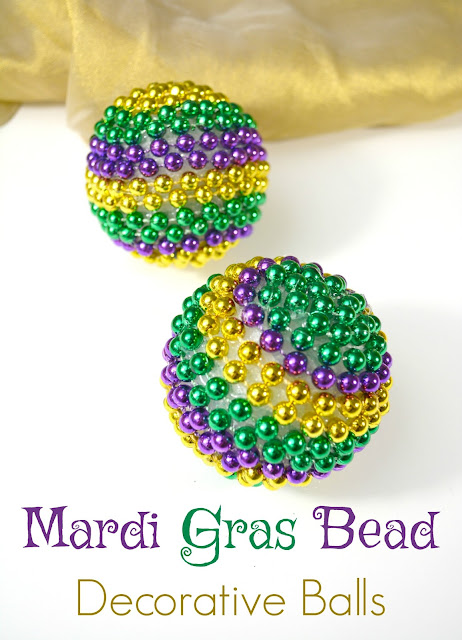 Mardi Gras Bead Decorative Balls