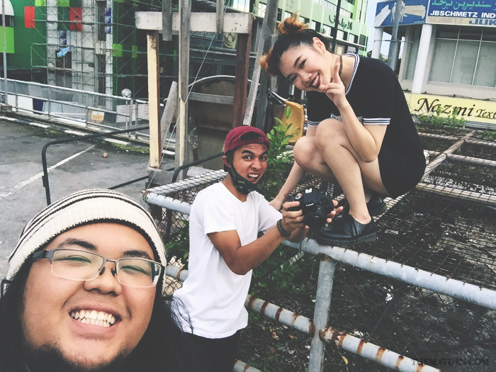 Brunei Blogger May Cho with Arif Rafie and Malik Loopy | Style, goth, BTS, Behind the Scenes, grunge