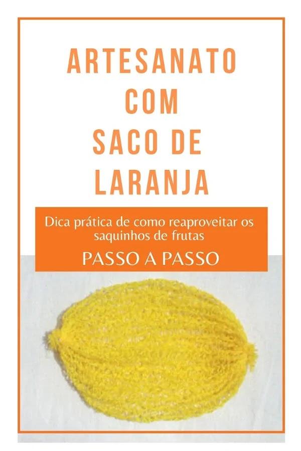 Como reaproveitar saco de laranja