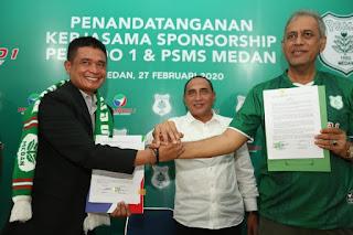 Pelindo 1  Dukung PSMS Medan Rp 1 Miliar Tanding Di Liga 2