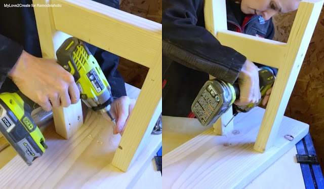 Attach Legs to bench top