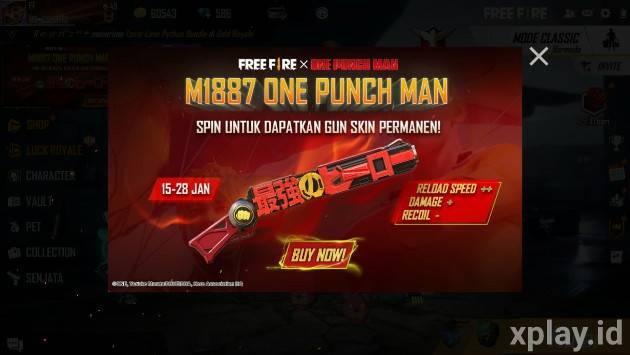 cara dapat shotgun m1887 one punch man