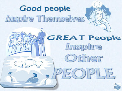 """Motivational Pictures Quotes, Facebook Page, MotivateAmazeBeGREAT, Inspirational Quotes, Motivation, Quotations, Inspiring Pictures, Success, Quotes About Life, Life Hack: """"Good people Inspire Themselves. GREAT People Inspire Other PEOPLE."""""""