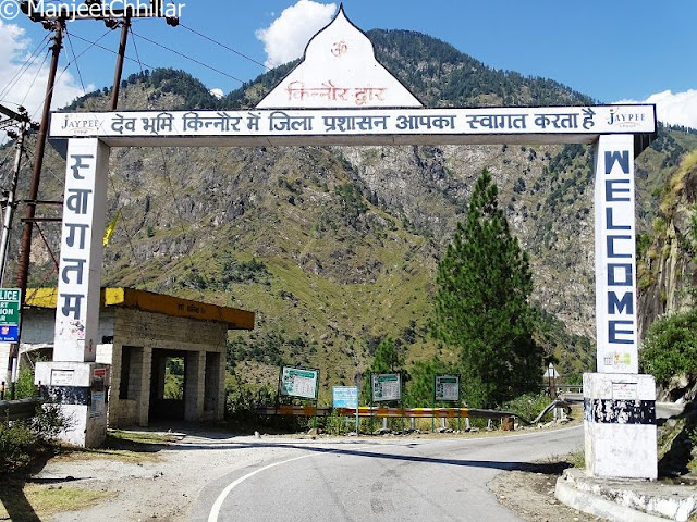 Kinnaur District Welcome Board