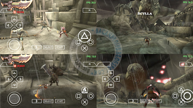 Game God of War Ghost of Sparta ISO CSO High Compress PSP savedata