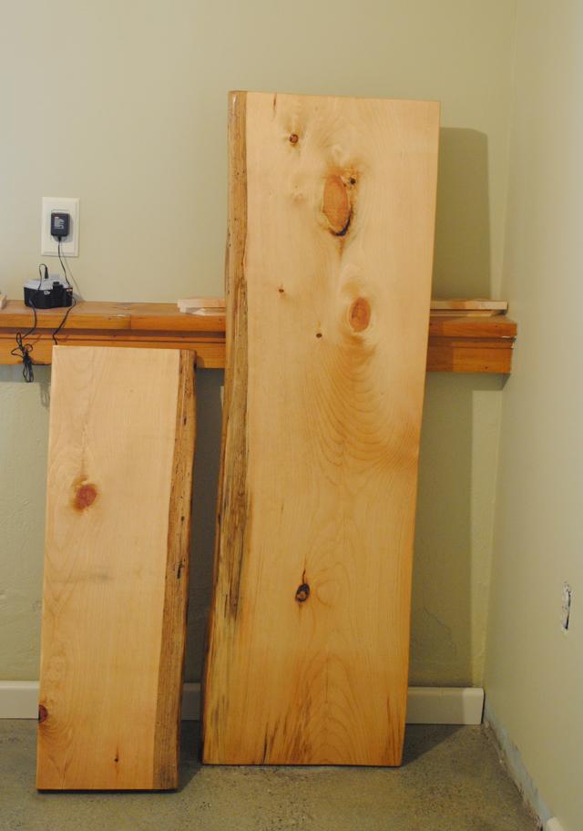 The Little Dog Blog: Our DIY Wood Plank Desk