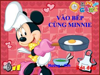 Game vào bếp cùng Minnie thú vị