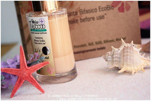 fondotinta bifasico misstrucco ecobio ecobiocosmesi makeup foundation vegan    review