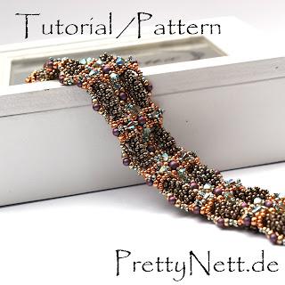 """Pattern / Tutorial for a beaded bracelet """"UpAndDown"""" - Design by PrettyNett.de"""