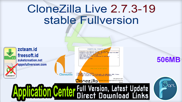 CloneZilla Live 2.7.3-19 stable Fullversion