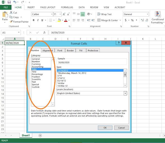 entering data in excel workshet