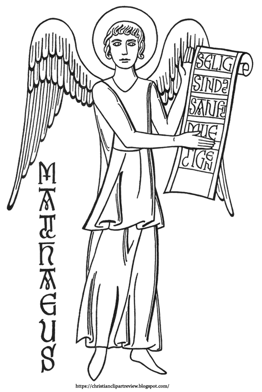 The Man With Wings Is The Gospel Of St Matthews Symbol Christian