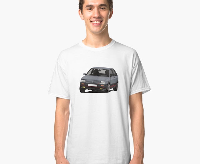 SEAT Ibiza SXi illustration - Gray - T-shirt