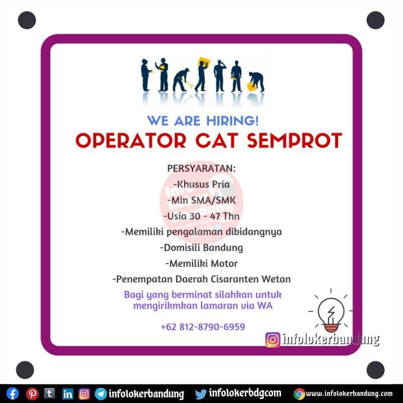 Lowongan Kerja Operator Cat Semprot Bandung Juli 2021
