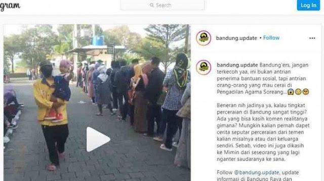 Viral Video Antrean Orang Ajukan Cerai di Bandung, Pengadilan Agama Ungkap Fakta Begini