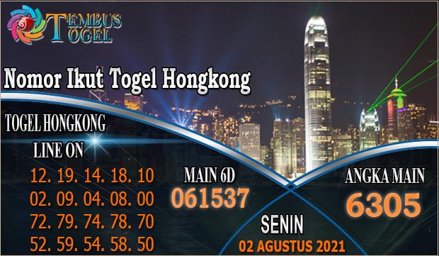 Nomor Ikut Togel Hongkong - Senin 02 Agustus 2021