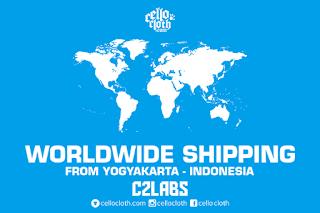 Worldwide Shipping Custom Clothing Products from Yogyakarta Indonesia