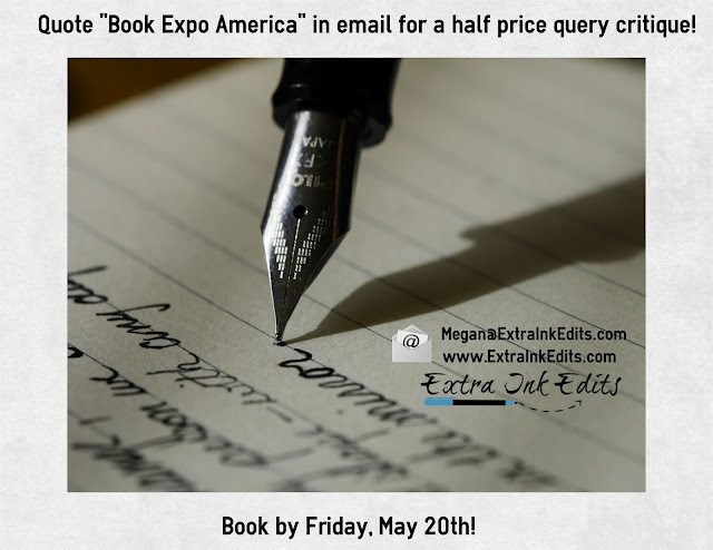 Special Discount offer for Book Expo America for a query critique from Extra Ink Edits for Editing Services for Writers
