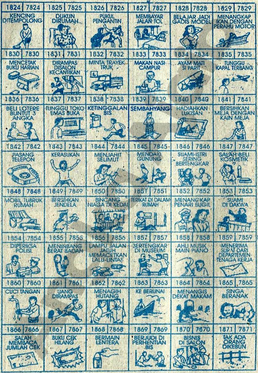 Buku Mimpi 4D Bergambar 1824-1871