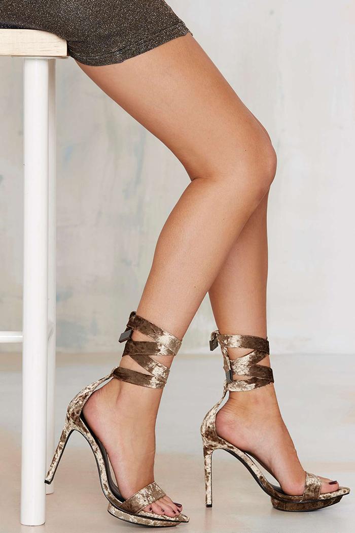 sandali velluto
