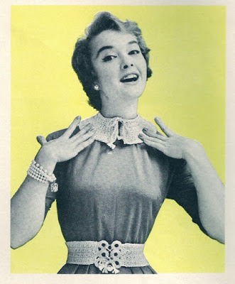 The Vintage Pattern Files: Free 1950s Knitting Pattern - Collar & Belt