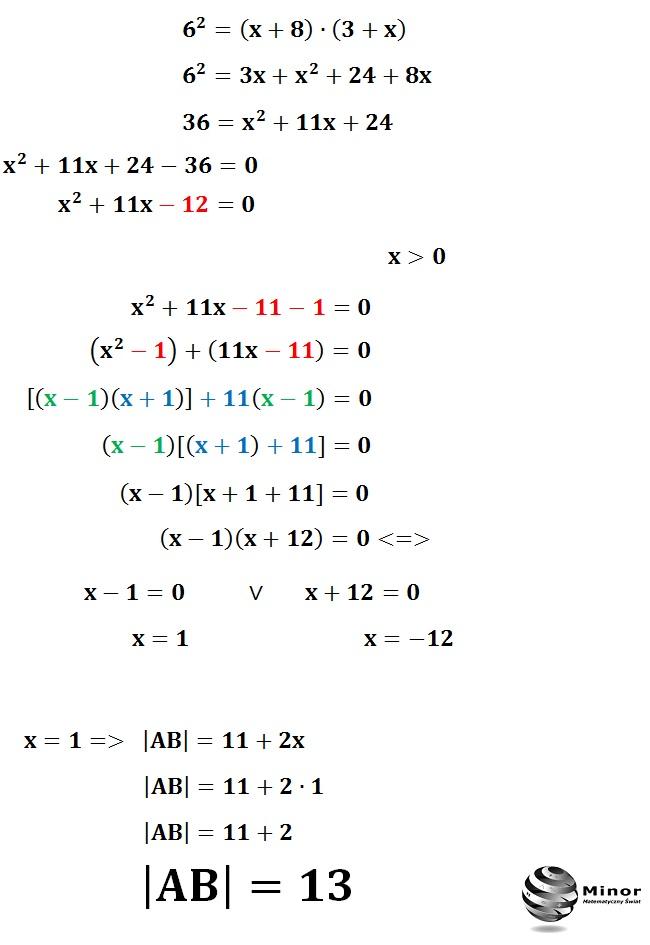 W trapez równoramienny wpisano trójkąt prostokątny